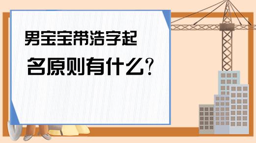 男宝宝带浩字起名原则有什么?